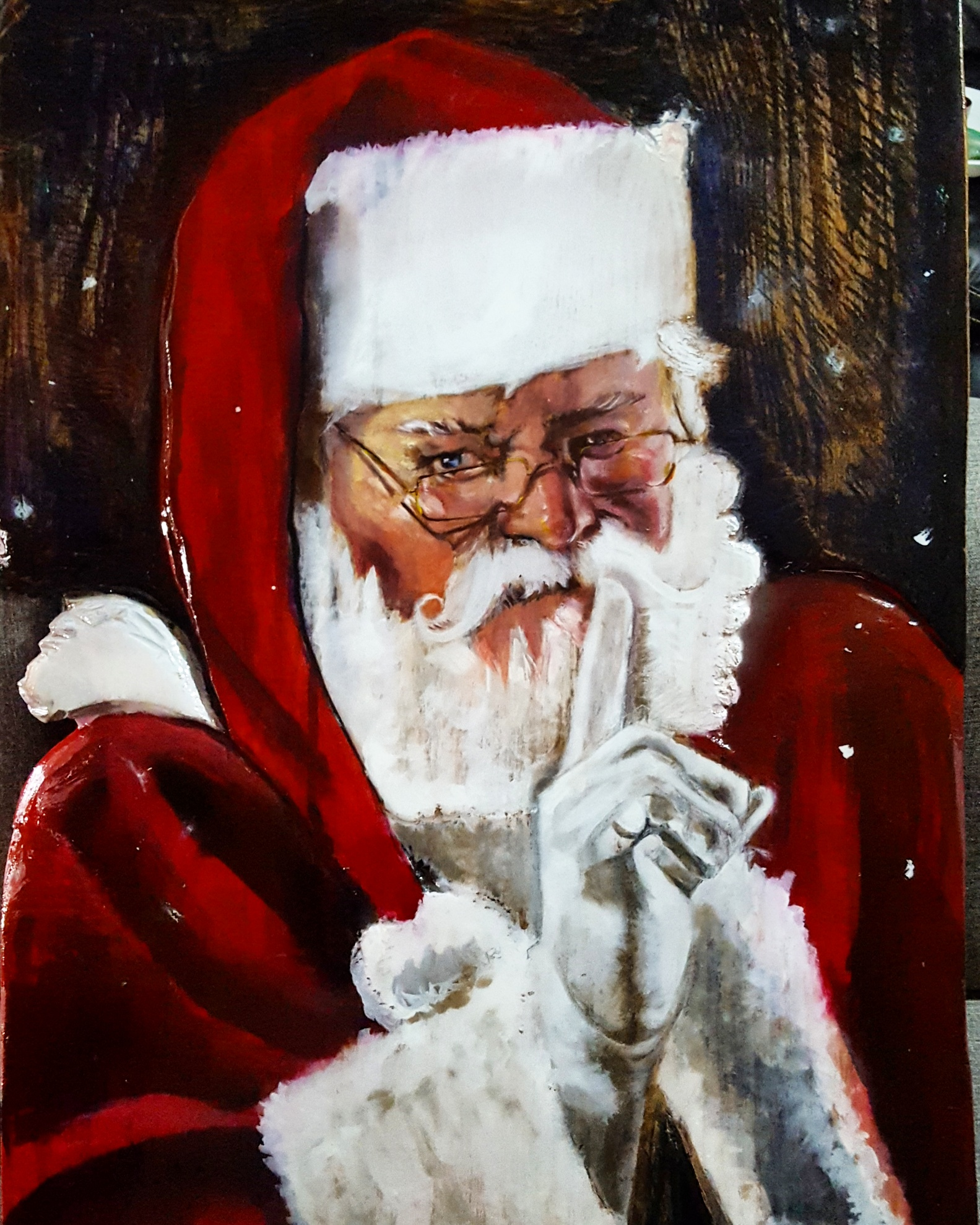 Commissioned mix media on wood santa claus 2 m b w commissioned mix media on wood santa claus 2 jeuxipadfo Choice Image